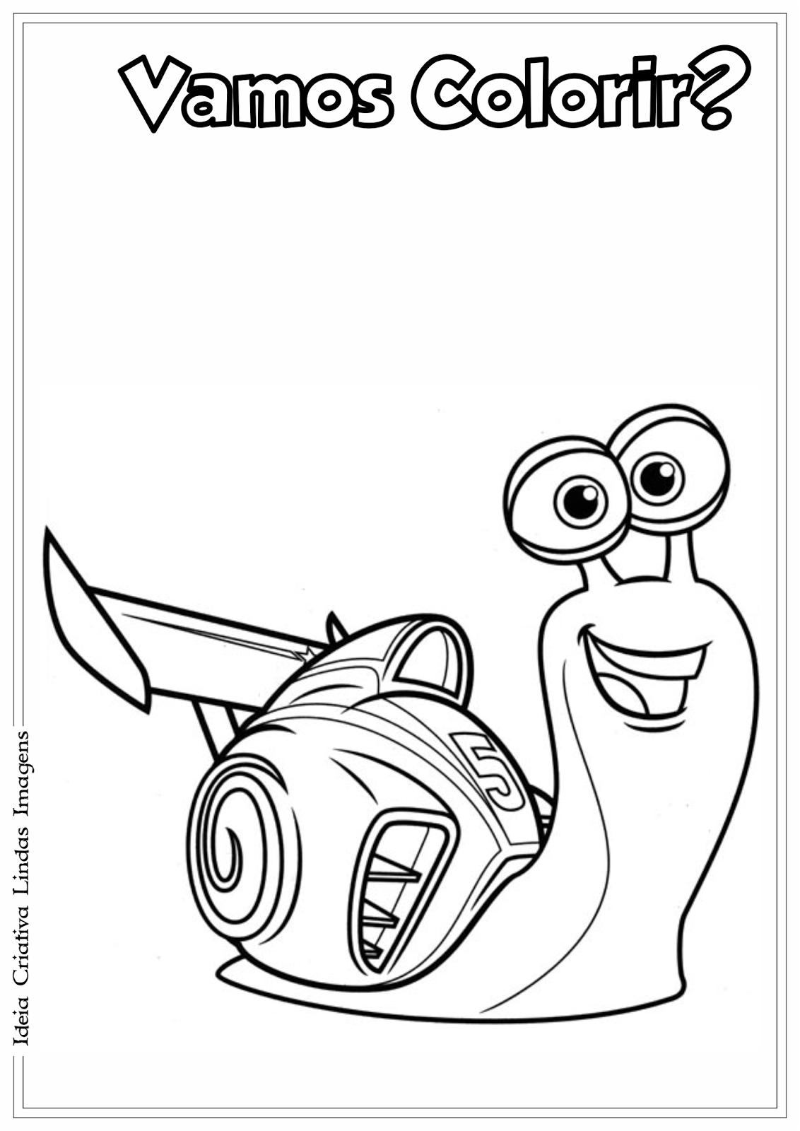 Filme Turbo desenho para colorir