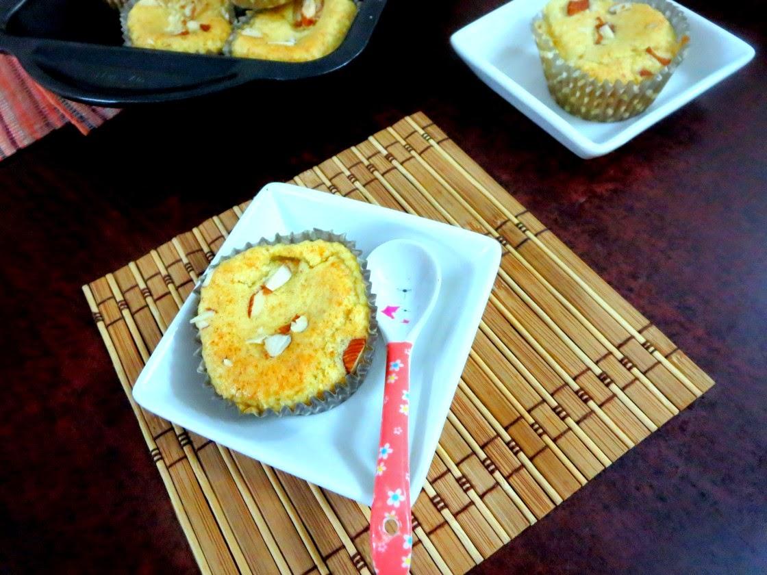 badam mix muffin | indian flavoured muffins with ready made badam mix