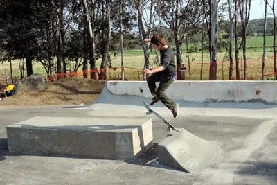 Cousin Kaleb show his skateboarding skills