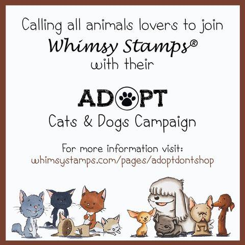 Whimsy Stamps Adopt cats & Dogs Campaign