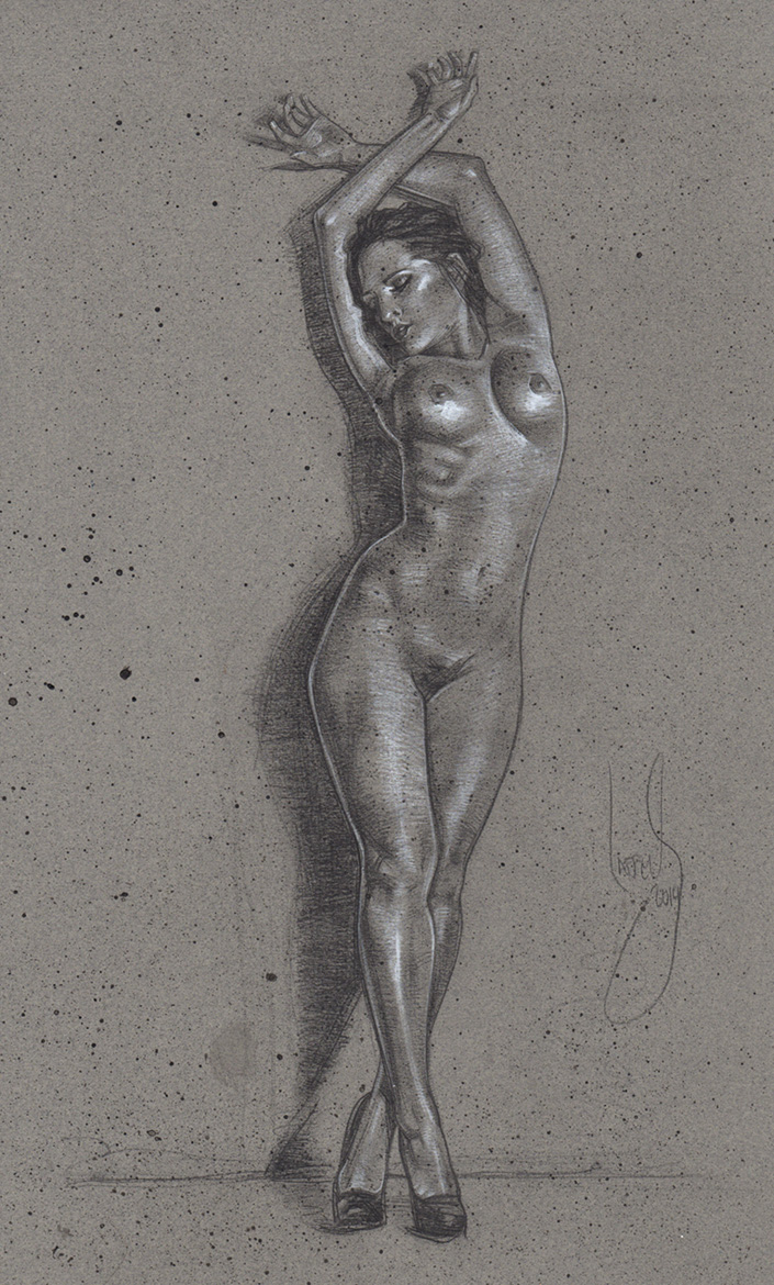 Nude Woman Drawing, Artwork is Copyright © 2014 Jeff Lafferty