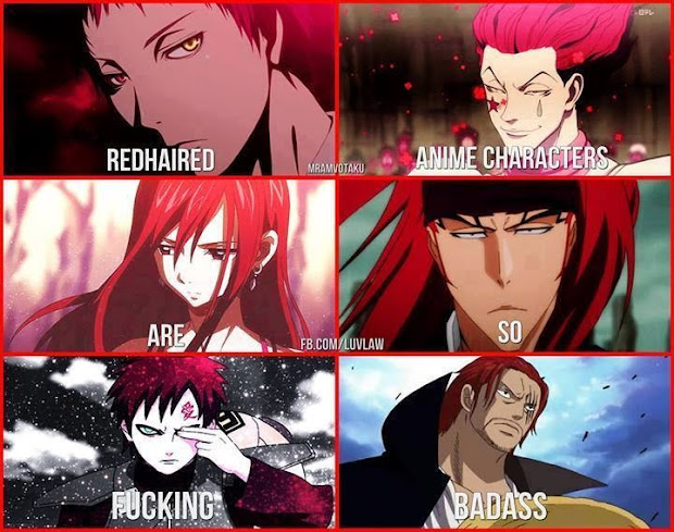 redhaired anime characters naruto