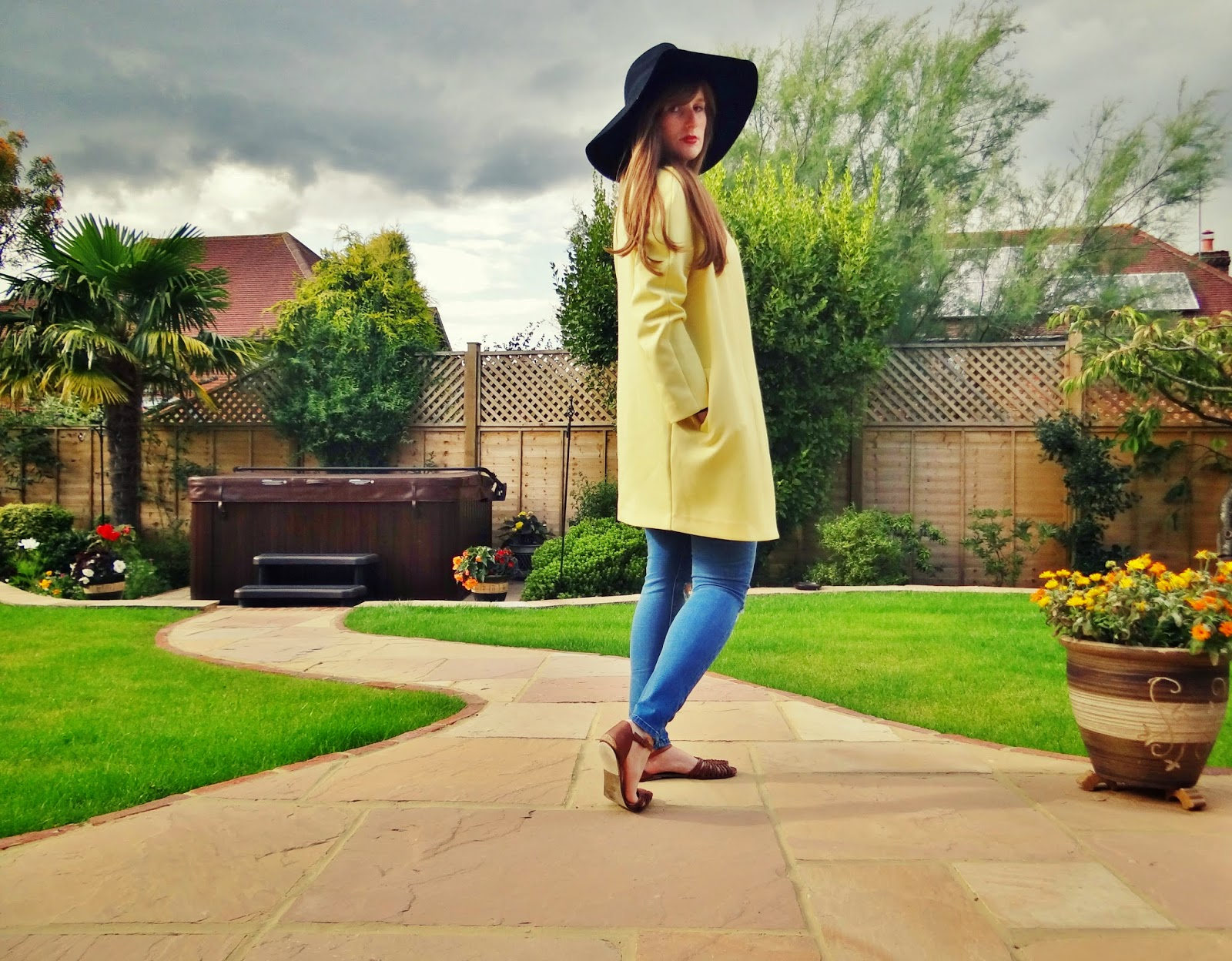 pastel yellow coat new season