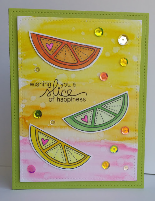 Summer Fruit card by Corilyn| Sweet Summer stamp set by Newton's Nook Designs