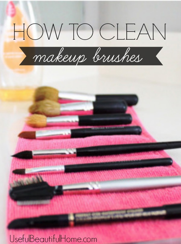 honey we 39 re home how to clean makeup brushes. Black Bedroom Furniture Sets. Home Design Ideas
