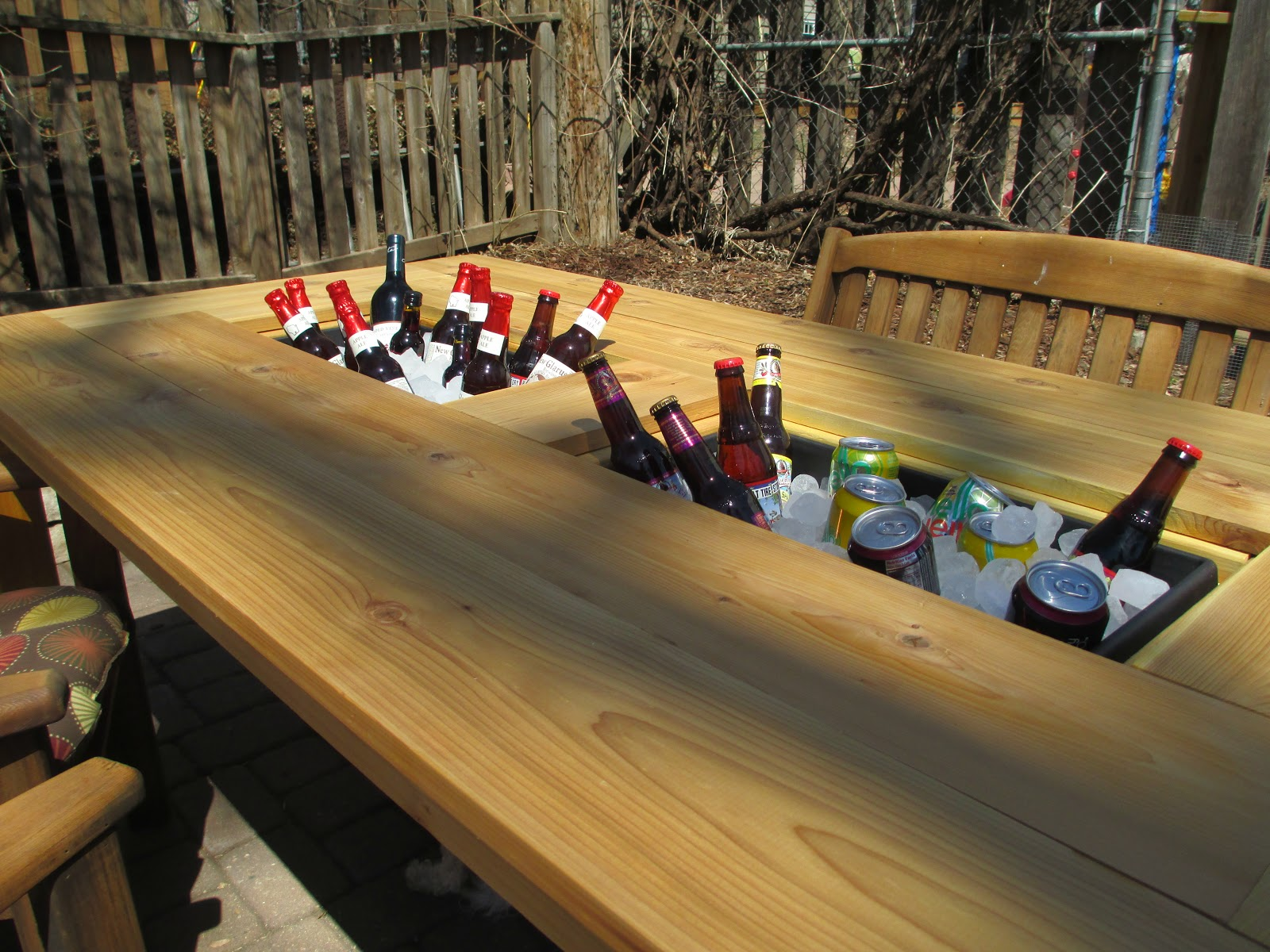 Kruse S Workshop Patio Party Table With Built In Beer