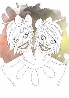 dessinateur illustrateur animateur bande dessinee croquis crayonne illustration animation artist illustrator animator comic book sketch sketches jonathan jon lankry animated doodle evening siameses twins freak