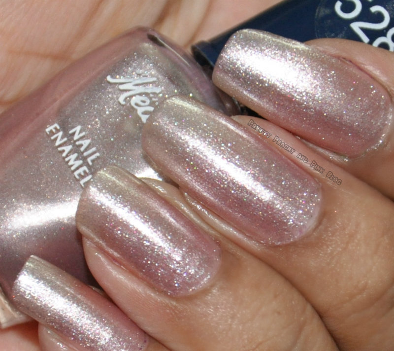 medora 528 pearl pink glittery nail polish