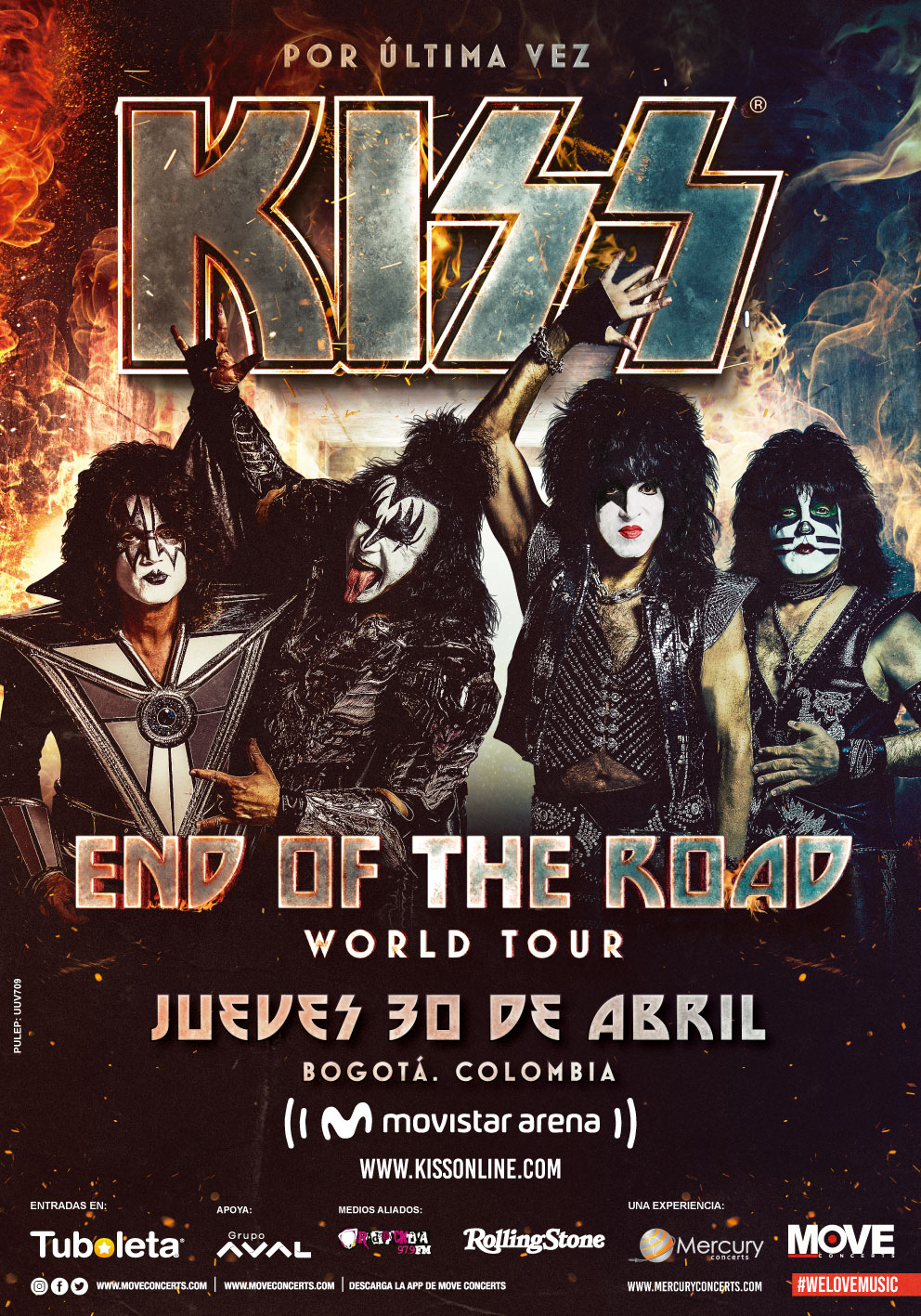 Kiss en Colombia - Abril 30 2020