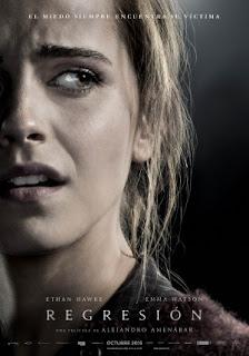"""Póster español de """"Regression"""", con Emma Watson"""