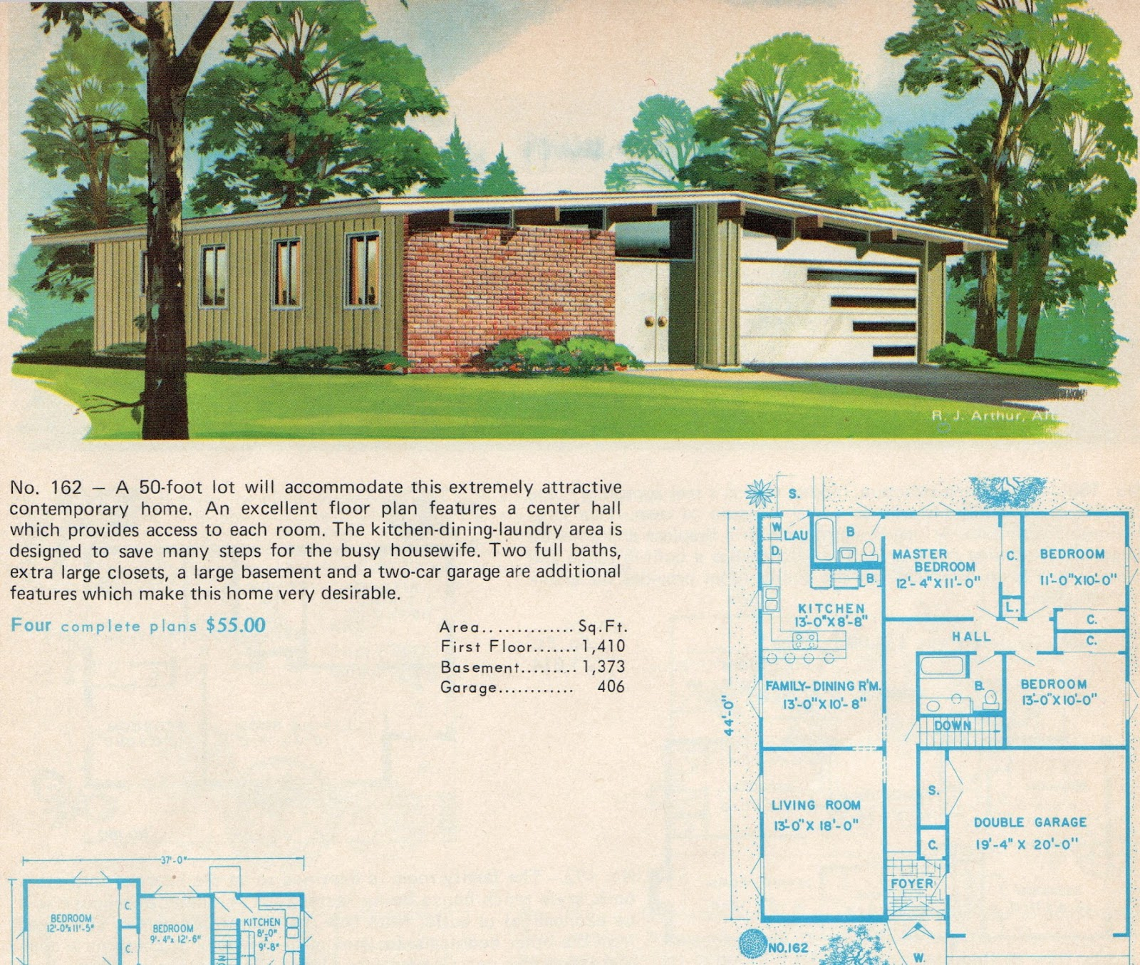 Mad for mid century crestview like mid century garage door for Mid century home plans