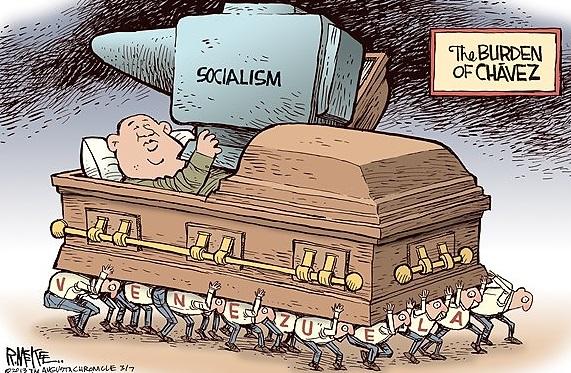 Political Cartoon,Political Cartoon Chavez, Chavez Funeral