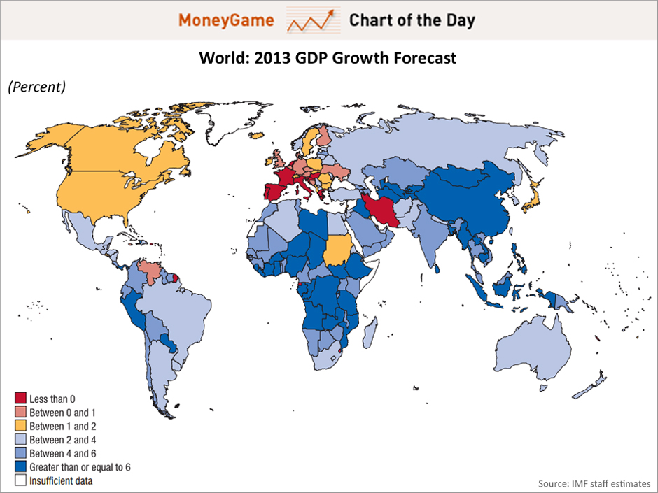 the map below shows anemic to low gdp growth in most parts of the world south america china and parts of africa are exceptions to that rule