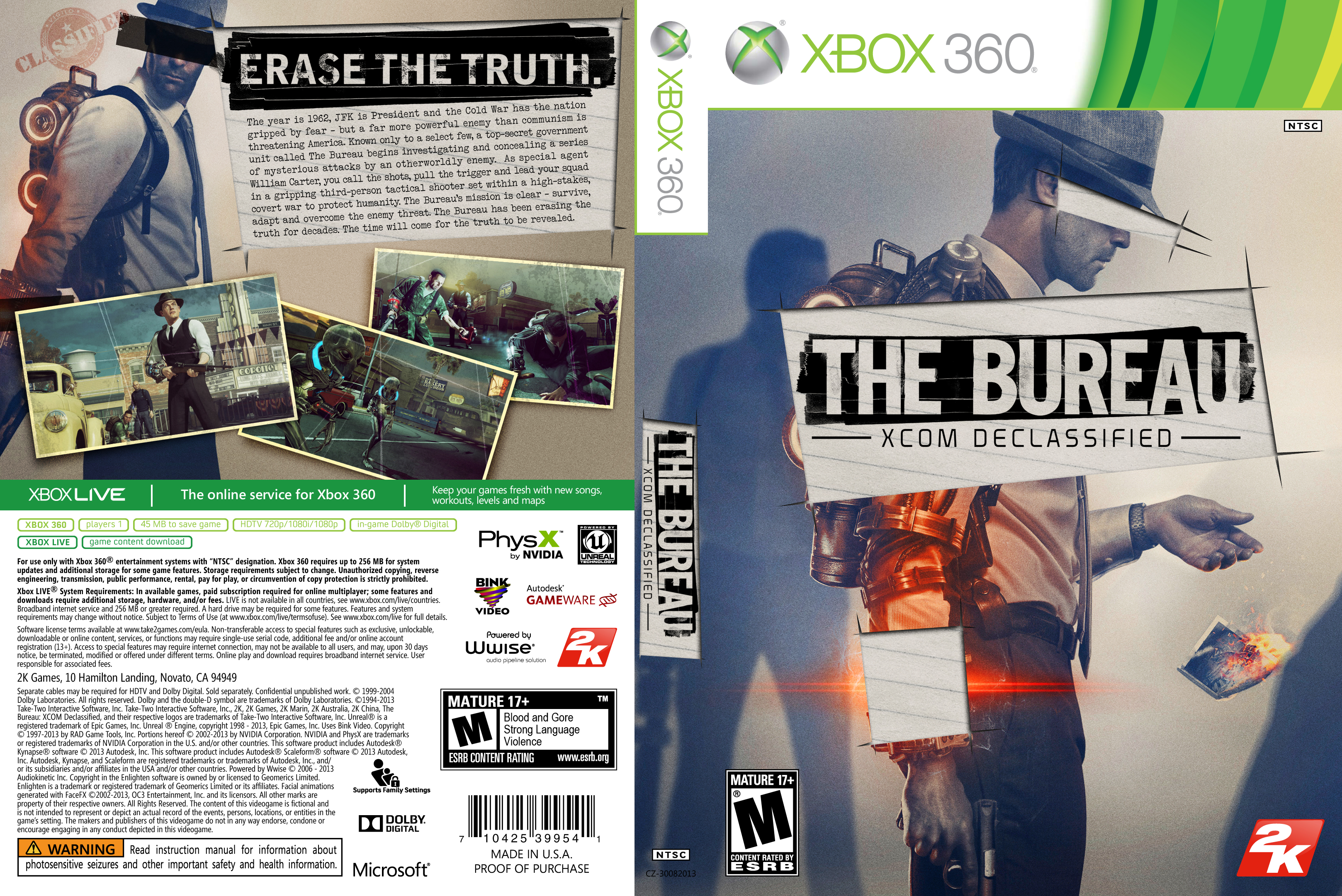 Capa The Bureau Xcom Declassified Xbox 360