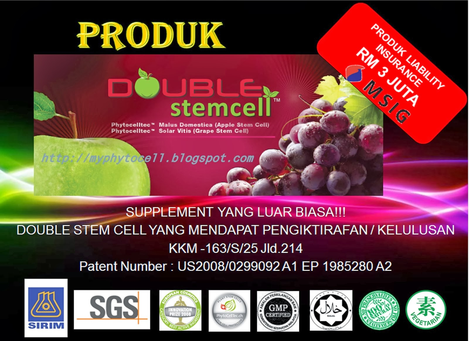 DOUBLESTEM CELL CLICK PICTURE, FREE MEMBER, INDONESIA, THAILAND, SINGAPORE & VIATNAM + DELIVERY