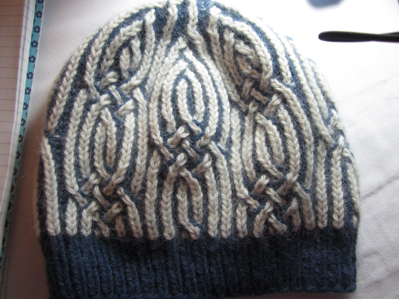 Knitting With Two Colors In The Round : Stitch and chat manipulating color brioche stitches
