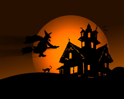 Halloween Wallpaper on Witch Halloween Wallpaper
