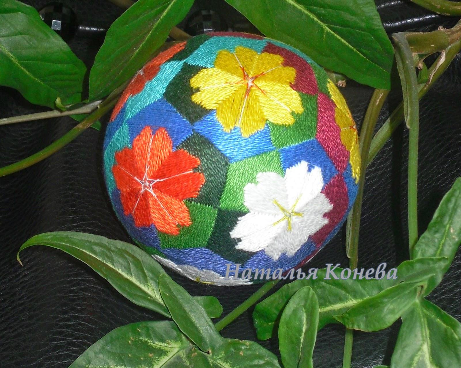 temari вышитые шары