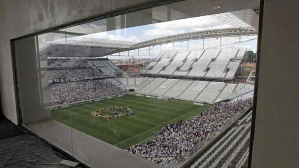 Cabinas de prensa estadio Arena Sao Paulo