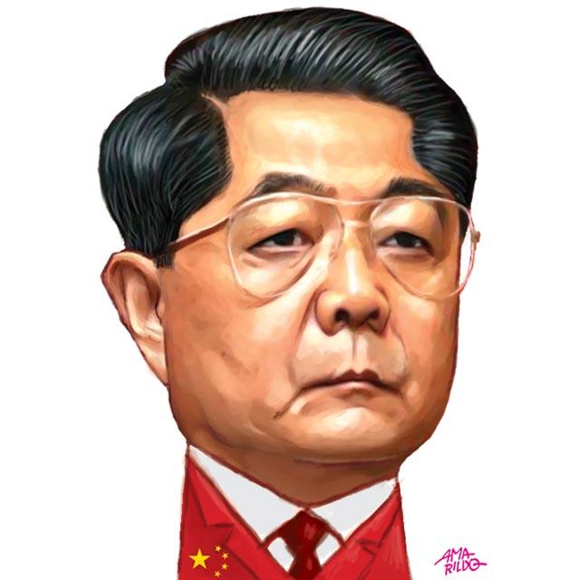 Hu Jintao - Caricatura | BLOG DO AMARILDO . CARICATURAS