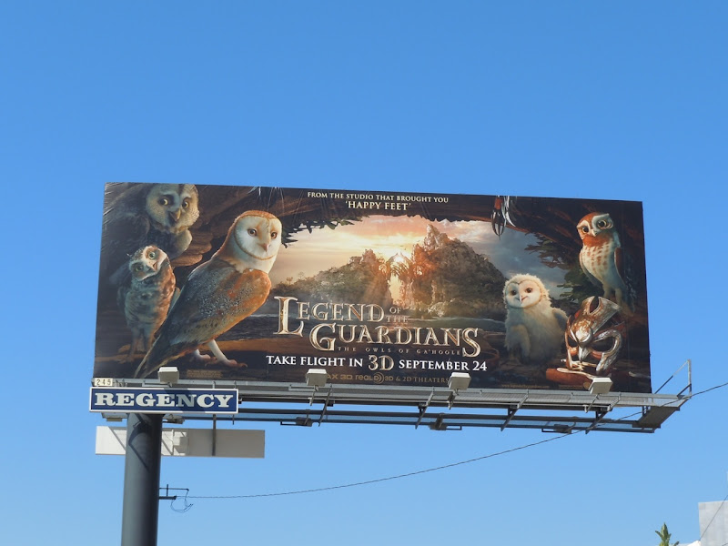 Owls of Ga'Hoole movie billboard