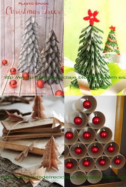el mundo del reciclaje adornos de navidad con material