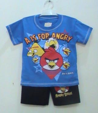busana kartun anak angry birds