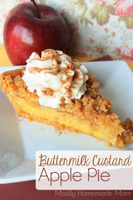 ... sweet buttermilk custard and crumb topping to make the BEST apple pie