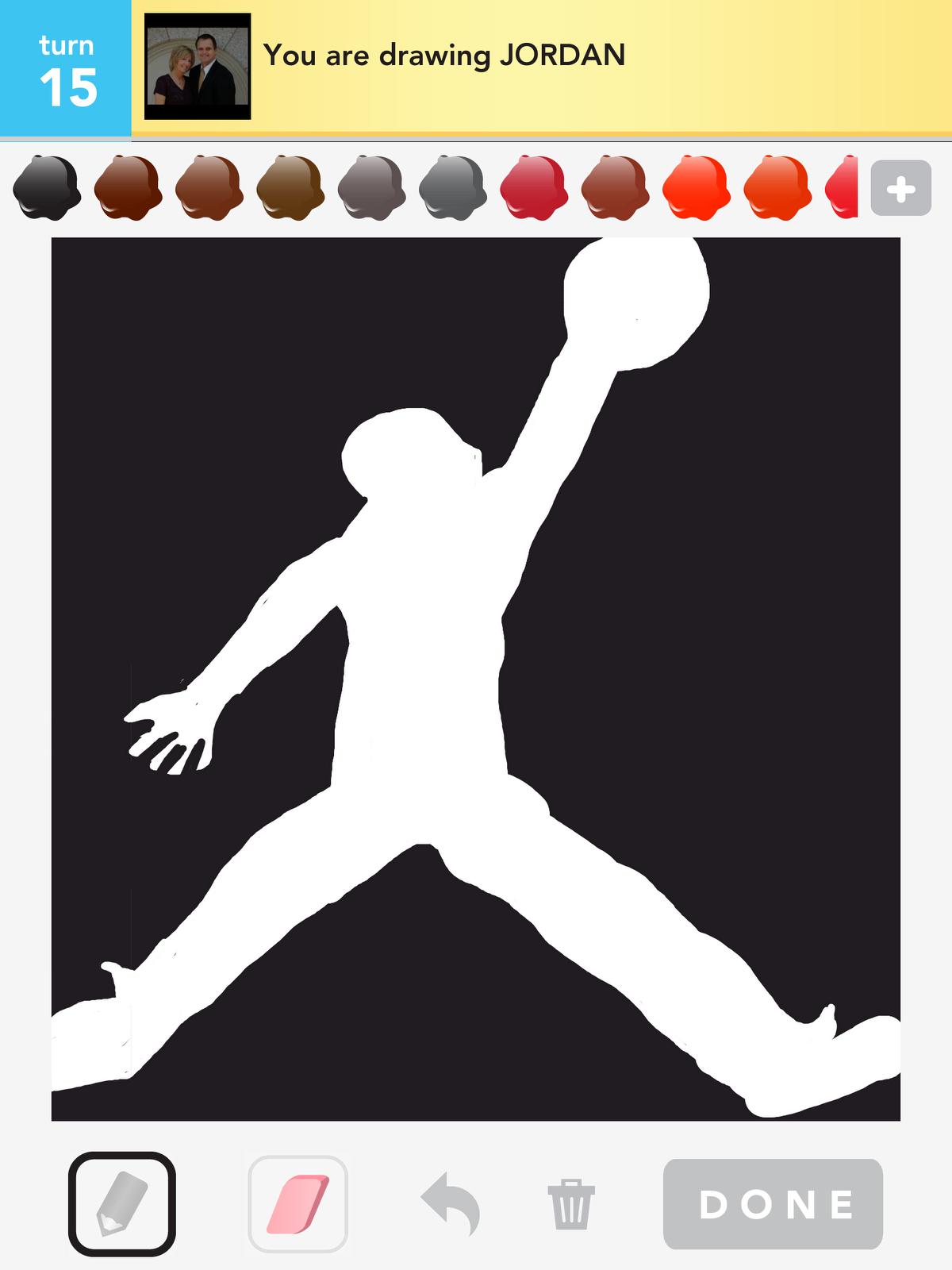 how to draw michael jordan logo