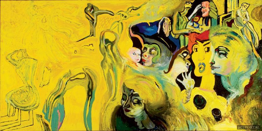 Kovásznai György: Nagy sárga kompozíció, 1983. nuncalosabre