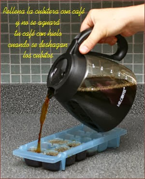 Cubitos de café para echar al café con hielo