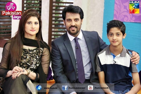 Afzal Khan Rambo and Sahiba with their son