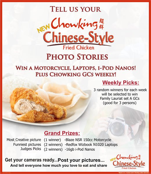 chowking, CONTEST, ENTRIES, Promos, Winnings, Food, Philippines, fastfood, foodie, motorcycle, online, contest, poem, viand, chinese, lamp