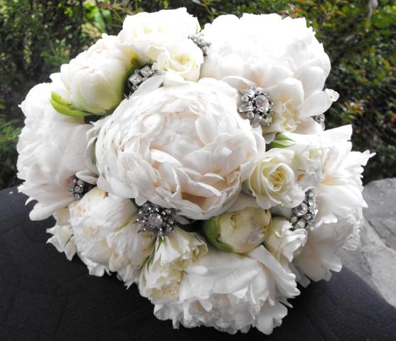 Bouquet de novia blanco y negro 1