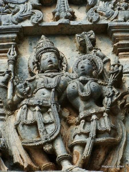 Shiva Parvathi Belur temple sculptures