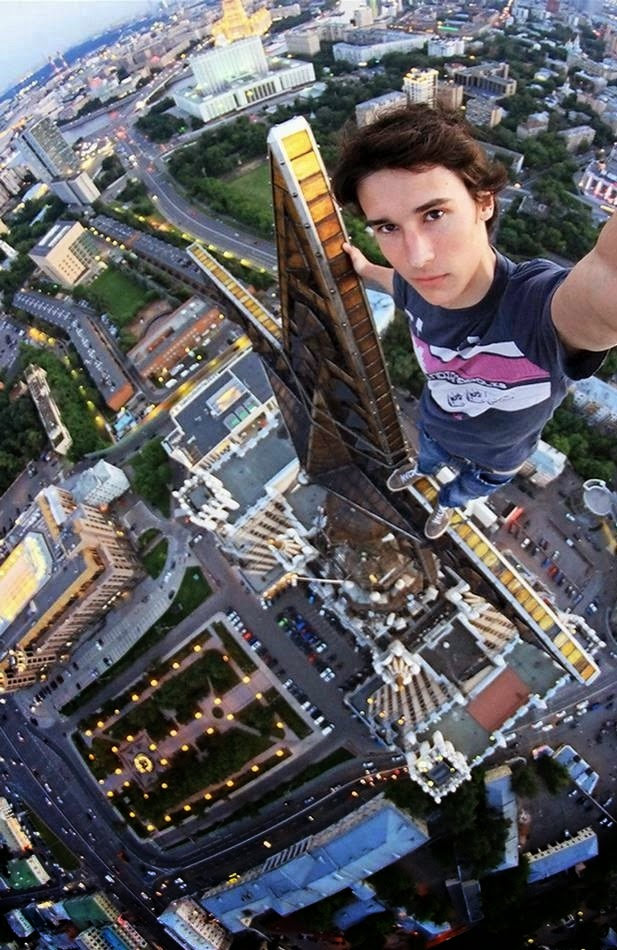 Russia's Spiderman' Kirill Oreshkin takes extreme selfies from Moscow's tallest buildings