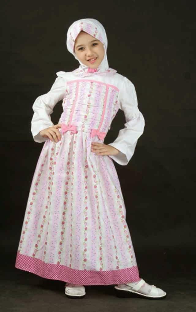 Gambar baju muslim anak perempuan minimalis dan modern