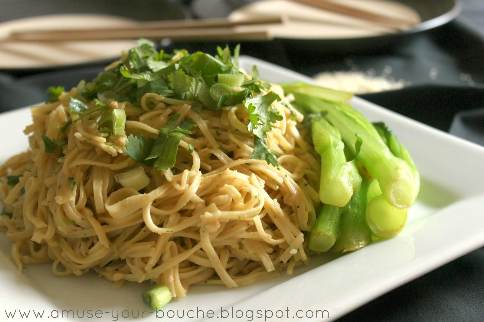 Peanut and sesame noodles - Amuse Your Bouche