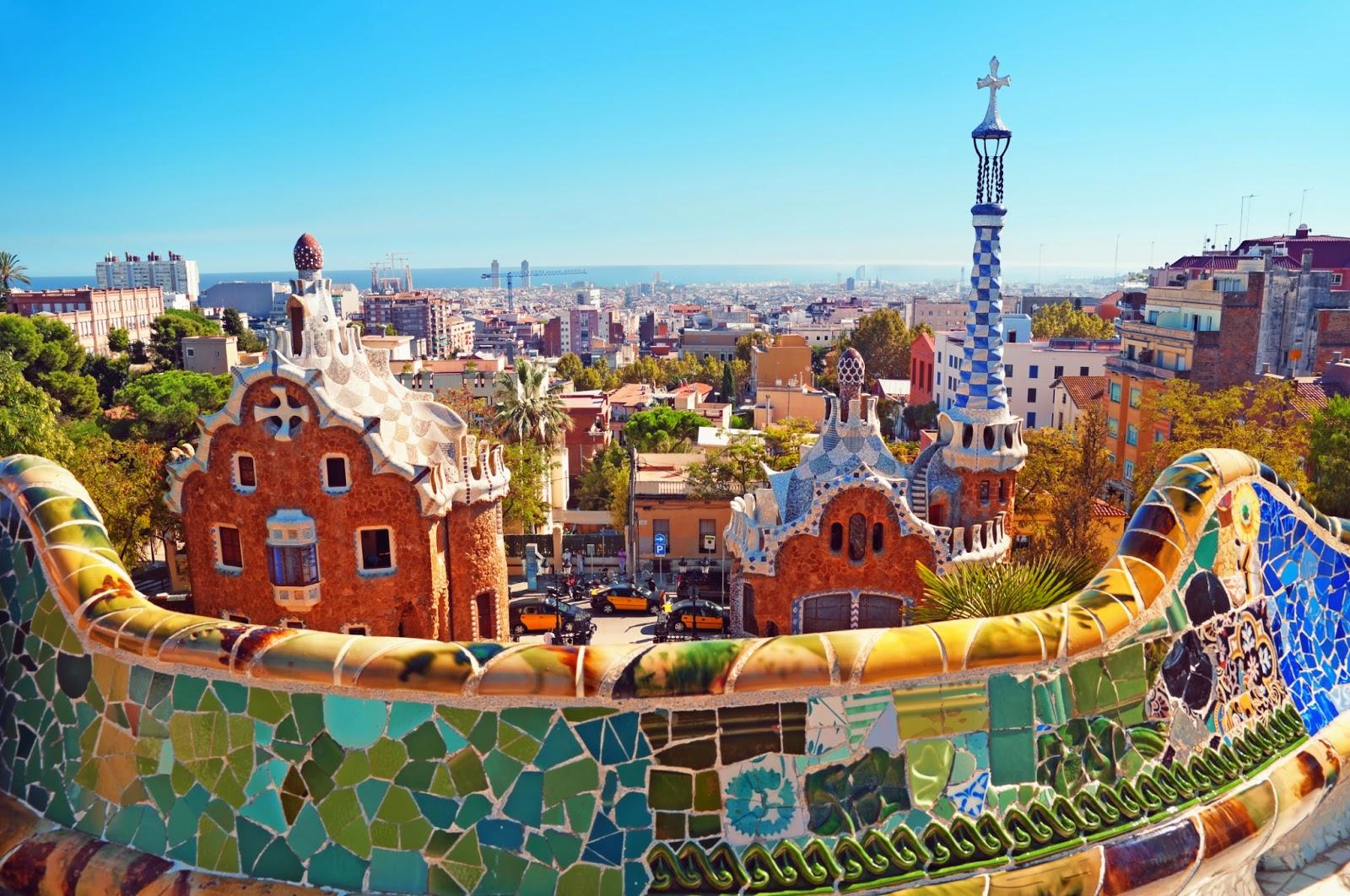 Parque g ell em barcelona dicas de barcelona e espanha for Parques de barcelona