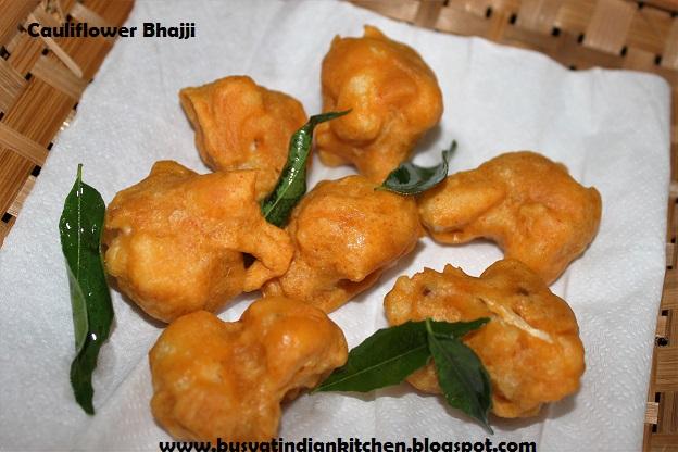 cauliflower bhajji