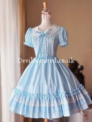 Polka Dots Puff Sleeves Sweet Lolita Dress