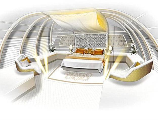 """طائرة الأمير الوليد بن طلال """"القصر الطائر"""" من الداخل"""