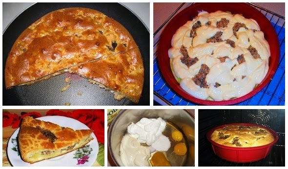 Пирог с кефиром и сметаной рецепт с