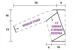 http://www.vyazemsami.ru// Ажурный короткий жакет (шраг) выкройка