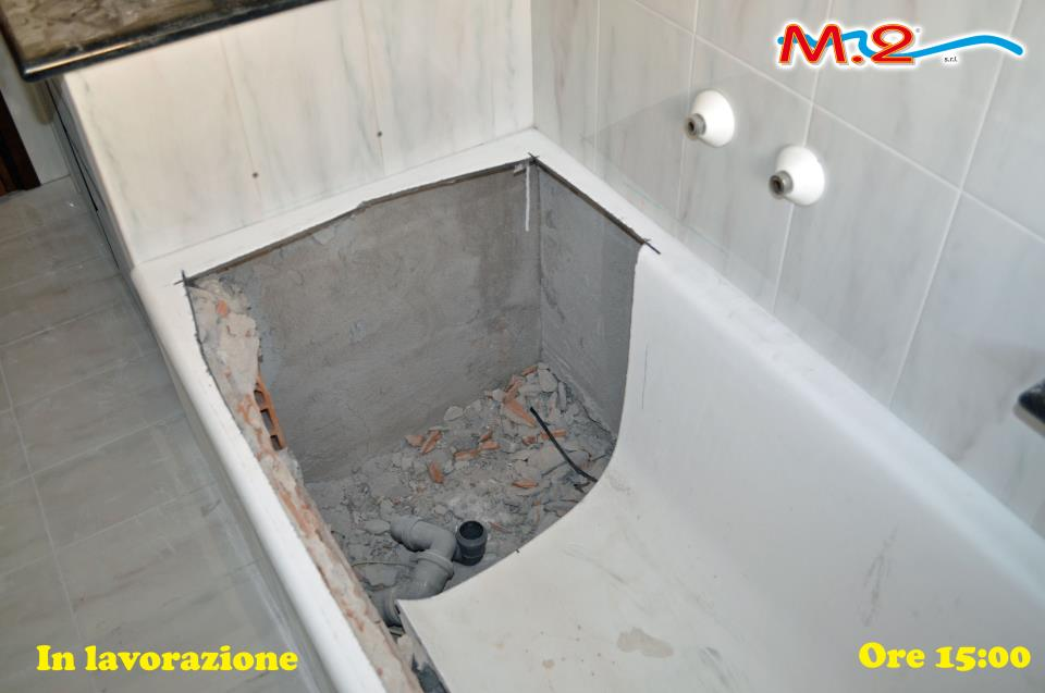 Vasca Da Bagno Rotta : E dopo pochissimo tempo ecco la nuova vasca installata senza opere