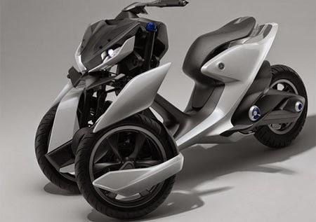 motor Yamaha roda tiga