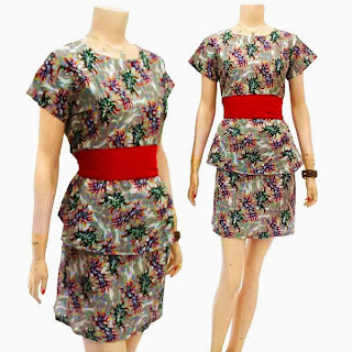 DB3216 Mode Baju Dress Batik Modern Terbaru 2013