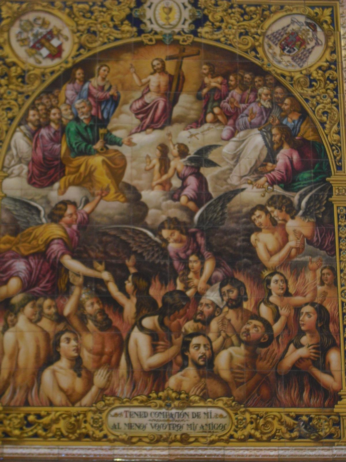 El retablo en cer mica de la iglesia de san pedro born - Ceramica san pedro ...