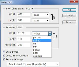 Cara merubah ukuran image