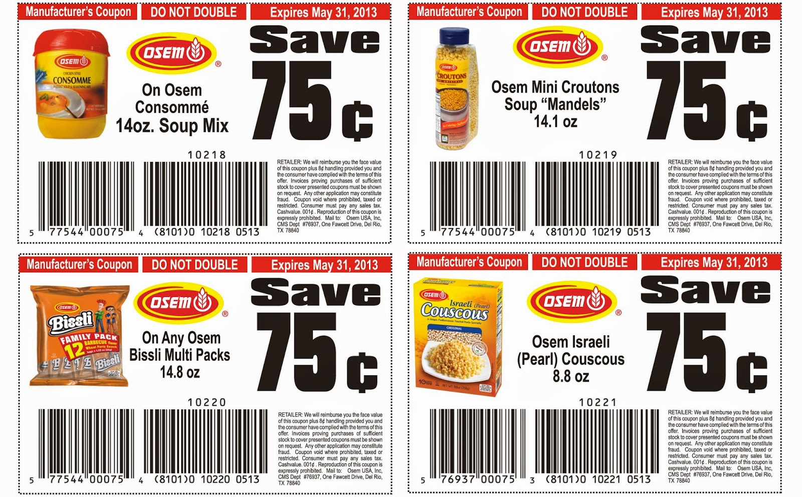 Free printable coupons